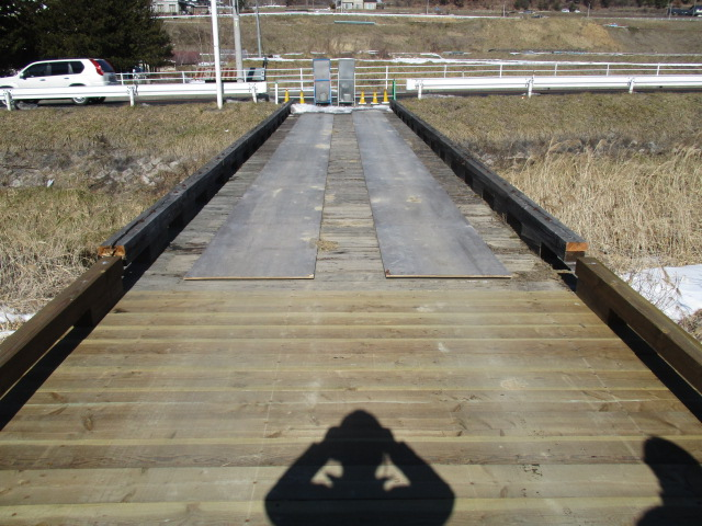 橋面の補修工事を行いました!